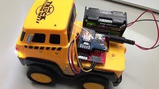 Webduino - IPad 遙控玩具車 ( 走 4G,純 HTML Javascript )