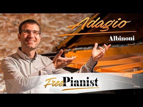 Adagio  Albinoni Giazotto  KARAOKE  ORGAN ACCOMPANIMENT  G minor  C key instr