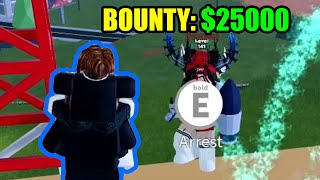 [HARD] ARRESTING a 25000 BOUNTY CRIMINAL TEAM | Roblox Jailbreak
