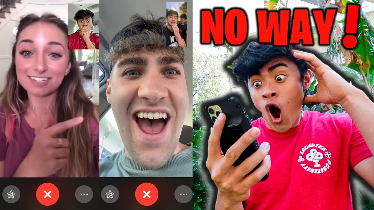 FACETIMING YOUTUBERS and DOING THEIR DARES *FIGHT*