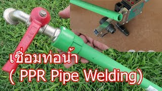 การต่อท่อน้ำด้วยความร้อน  (PPR Pipe)
