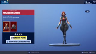 NEW SKIN 'BLACK WIDOW TREATMENT' (NOUVEAU PICO ET GESTO) NOUVEAU MAGASIN FORTNITE [25/04/2019] KRONOOK