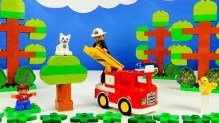 Lego Duplo 10901 Fire Truck - Лего Дупло 10901 Пожарная машина. Строим из Lego Duplo.