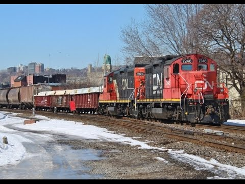 Railfanning Montreal and West Island - 3/24/15