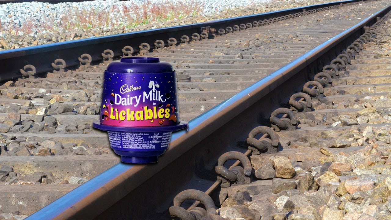 Train Vs Cadbury Lickable Test