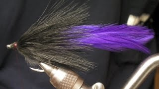 How to tie a Simple Black and Purple Tarpon Fly