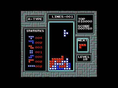 NES Tetris with Music A from Game Boy