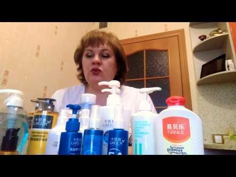 Продукция компании GreenLeaf. Ассортимент средств по уходу за волосами.