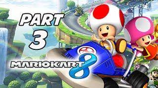 Mario Kart 8 Gameplay Walkthrough Part 3 - TOAD Flower Cup Grand Prix 150cc (Wii U Gameplay)