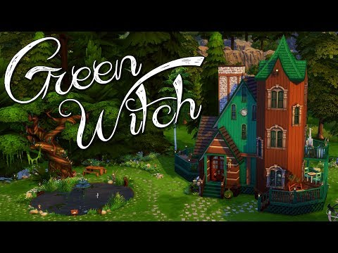 💚  Green Witch 💚 | Fairytale Home | Sims 4 Speed Build