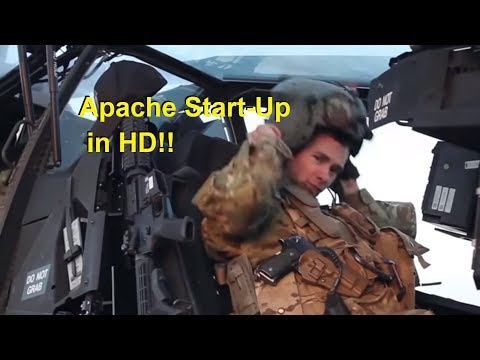 Boeing Apache AH-64 Helicopter Start-up HD - Departures - Up-close with Fly-by's!