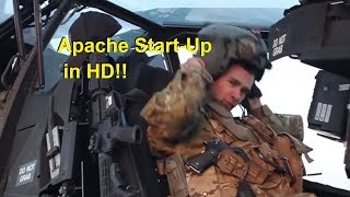 Boeing Apache AH-64 Helicopter Start-up HD