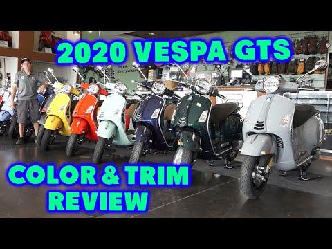 2020 Vespa Gts 300 Supertech Super Colors And Trim Review