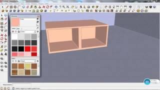 belajar render Vray sketchup - cara menambah material dan render Vray sketchup