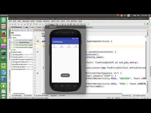 Easy way of OTP PIN Validation Android - YouTube