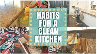 HABITS for Clean Kitchen! Clean as you go method