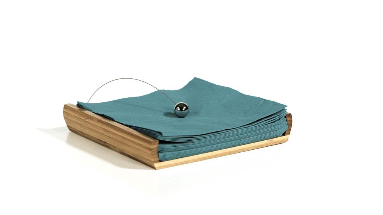 serviettenhalter bambus mit beschwerer youtube. Black Bedroom Furniture Sets. Home Design Ideas