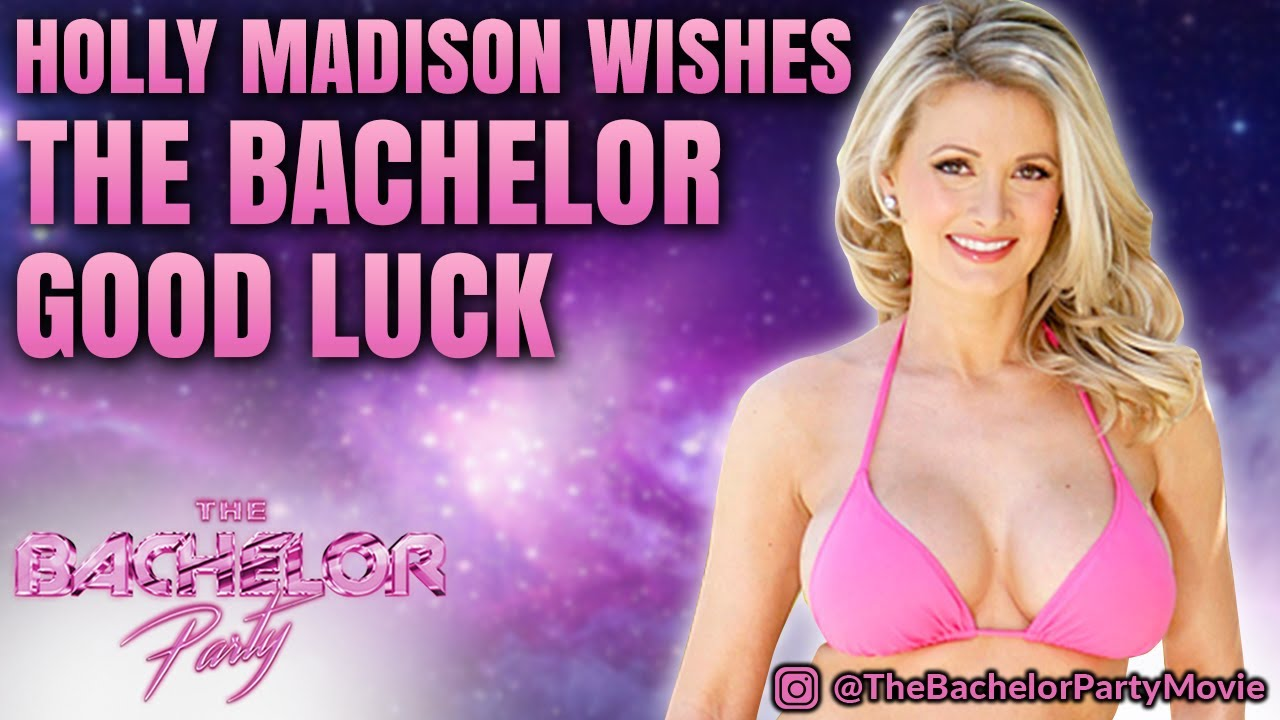 Playboy Playmate Holly Madison Wishes The Bachelor Shawn Valentino Good Luck The Bachelor Party Youtube