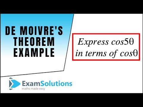 Example using de Moivres theorem (Trig. identities) : ExamSolutions Maths Video Tutorials