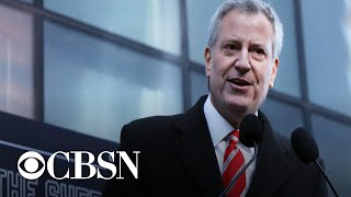 New York City Mayor Bill de Blasio running for president