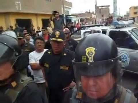 Intento de demolicion ilegal por Municipalidad Distrital de Pomalca. (1)
