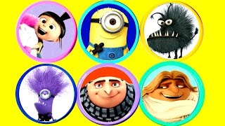 DESPICABLE ME 3 Play-Doh Toy Surprise Opening and Minions Play Doh Molds Learn Colors for Kids
