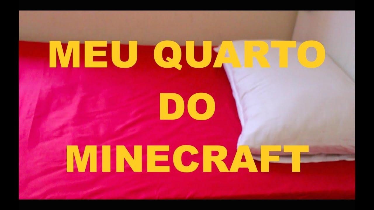 Decorando meu quarto com o tema Minecraft  fase 1  YouTube