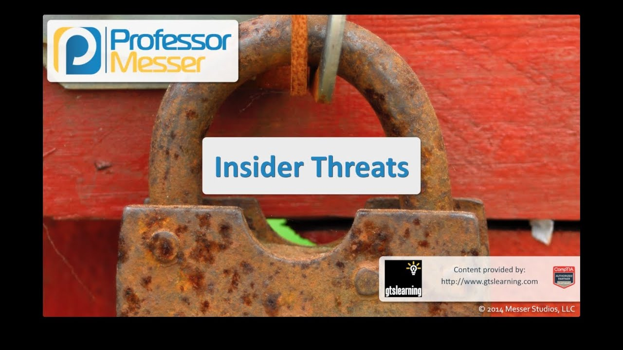 Insider Threats - CompTIA Security+ SY0-401: 3.2