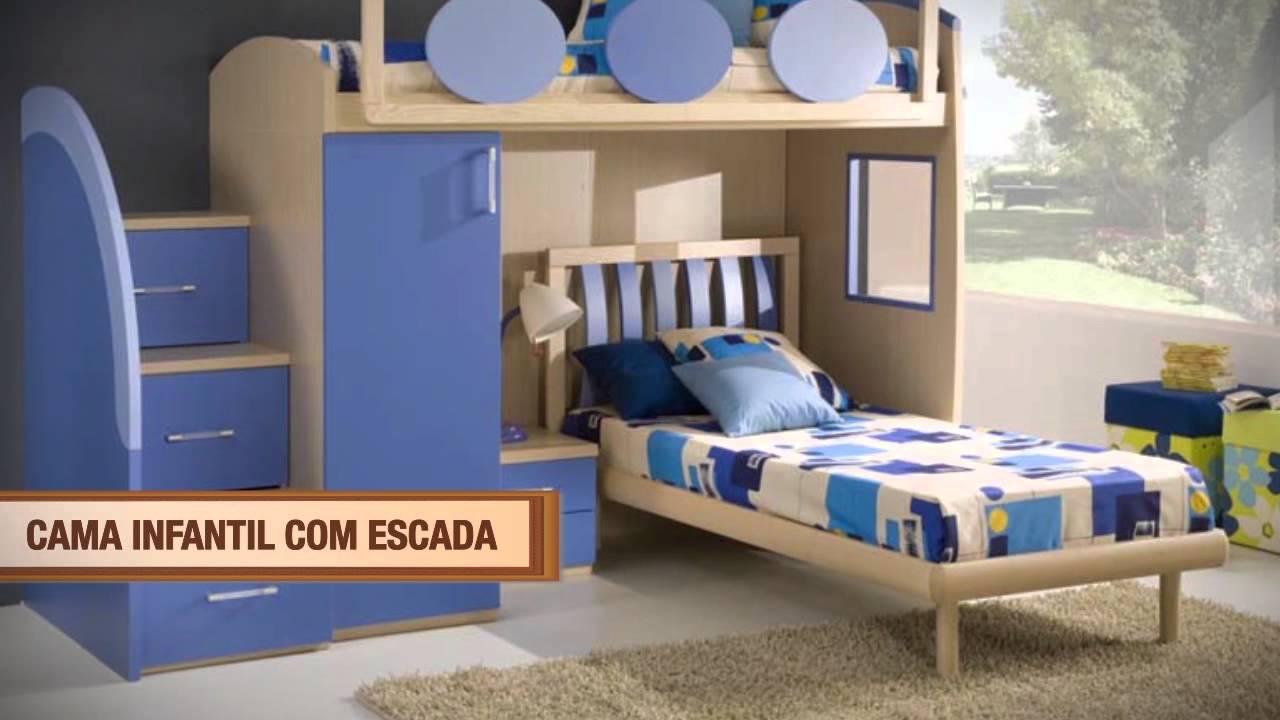 19 cdd cama infantil com escada youtube for Cama infantil