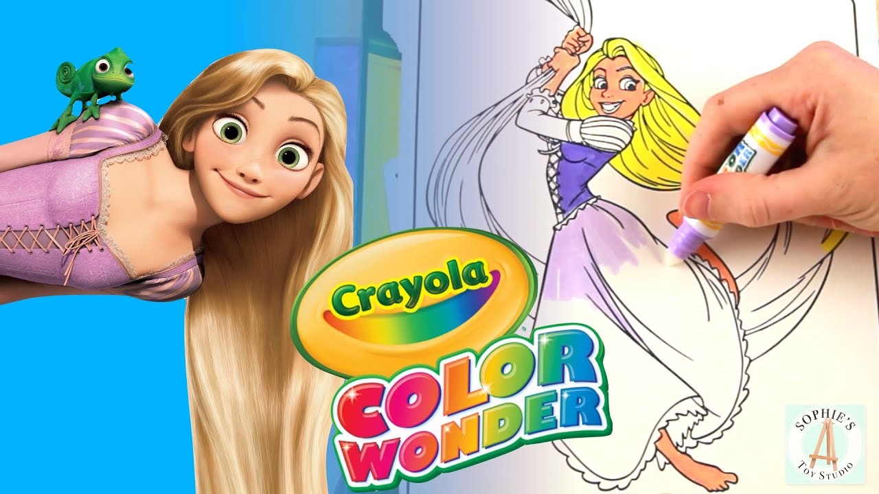 Coloring Disney Princess Rapunzel from Tangled with Crayola Color ...