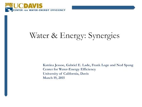 [Blueprint for Efficiency] Water & Energy: Synergies
