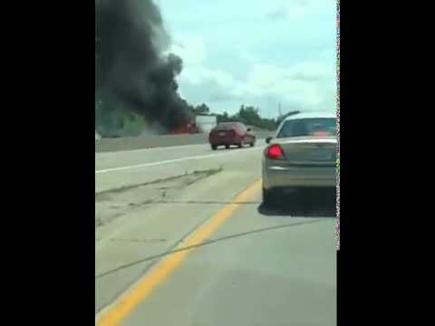 Truck fire in Arnold, MO