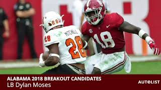 5 Alabama Football Players Who Will Breakout In 2018