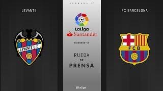 Rueda de prensa Levante vs FC Barcleona
