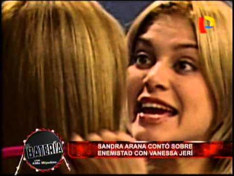 Nota - Sandra Arana conto sobre enemistad con Vanessa jeri