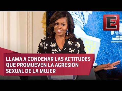 Michelle Obama condena comentarios de Trump sobre mujeres