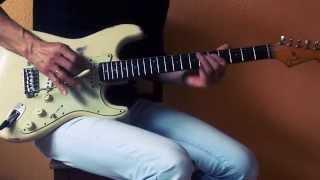 Cranked 1975 Fender Deluxe Reverb with Weber Blue Dog Speaker: natural distortion!