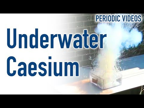 Underwater Caesium - Periodic Table of Videos