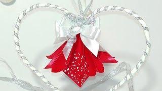 DIY Paper hanging heart. DIY Paper Heart Showpiece. DIY Easter decor!