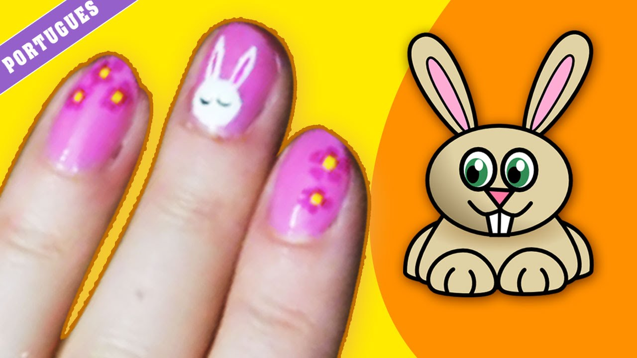 Easter Bunny Nail Art Diy Nail Art Designs For Beginners Youtube