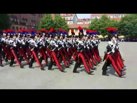 Giuramento 134° corso allievi carabinieri Cernaia Torino 28/05/2016 parata finale