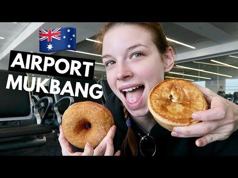 Australian Airport BREAKFAST MUKBANG!