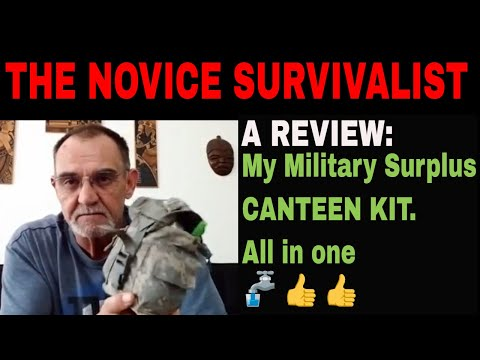 NS 2CG REVIEW   My Military Surplus Nesting Canteen Kit