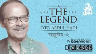 Ekdin Chole Jabo I The Legend Syed Abdul Hadi I Modern Song I Official Audio Song