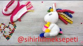 #amigurumi my little ponny #how to make? #my little unicorn #tek boynuzlu at #pony1#örgü pony yapımı