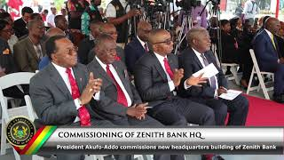 Commissioning of Zenith Bank New Headquarters