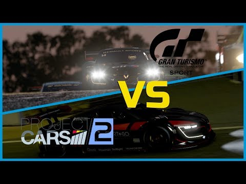 Project Cars 2 vs Gran Turismo Sport - Night Race