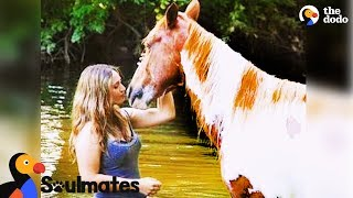 Wild Horse Adopted by Woman Becomes Best Friends with Her | The Dodo Soulmates thumbnail