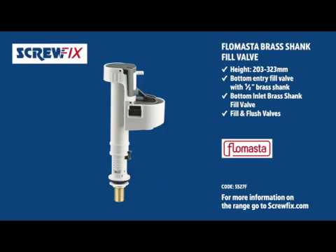 FLOMASTA BOTTOM INLET BRASS SHANK FILL VALVE | Screwfix
