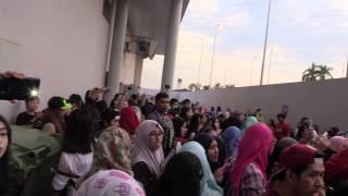 Brunei fans wait for EXO